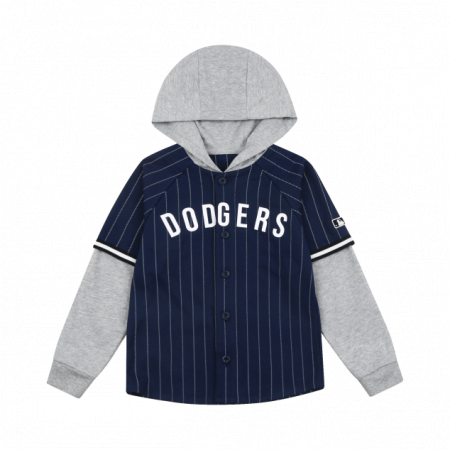 Áo khoác MLB Layered Hooded Stripe Baseball Jersey LA Dodgers 71BSN1041-07N