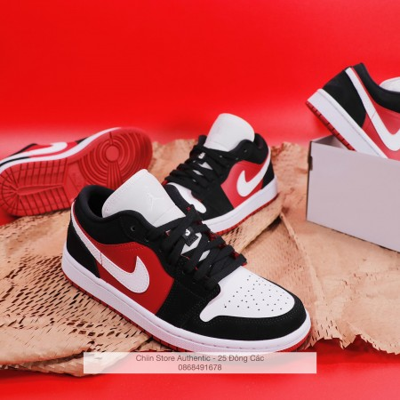 Giày Nike Wmns Air Jordan 1 Low 'Gym Red Black' DC0774-016
