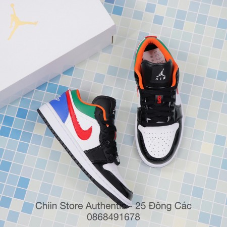 Giày Nike Jordan 1 Low Multi-Color Black Toe CZ4776-101