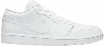 "Giày Nike Air Jordan 1 Low ""Triple White"" 553558-126"