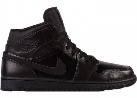 Giày Nike Air Jordan 1 Retro Mid Black 554725-030