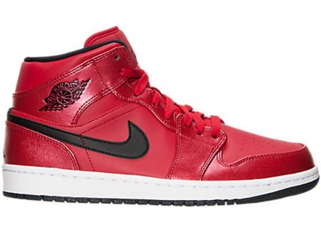 Giày Nike Air Jordan 1 Mid Gym Red Black Patent 554725-602