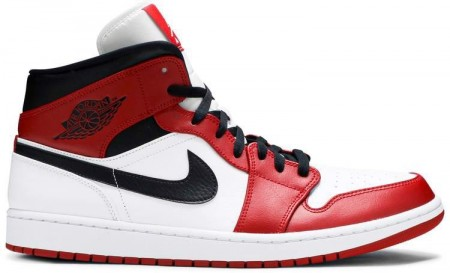 Giày Nike Air Jordan 1 Mid Chicago 'White Toe' 554725-173