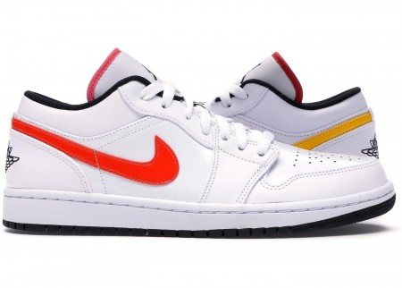 Giày Nike Air Jordan 1 Low White Multi-Color CW7009-100