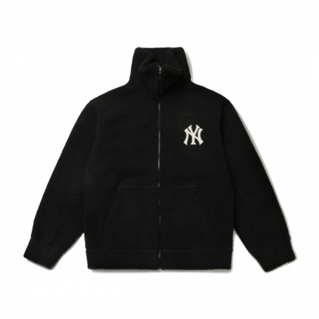 Áo nỉ lông MLB Basic Stand Neck Dumble Fleece New York Yankees 31JPF3111-50L