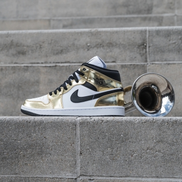 Giày Air Jordan 1 Mid Metalic Gold DC1420-700