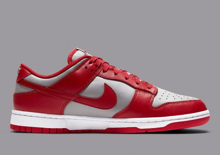 Giày Nike Dunk Low Retro Medium Grey Varsity Red UNLV DD1391-002