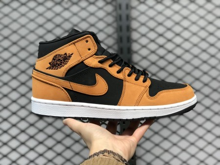 "Giày Air Jordan 1 Mid ""Wheat"" Desert Ochre DB5453-700"
