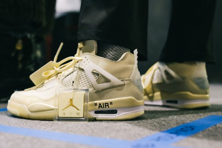 Giày Off-White x Air Jordan 4 Retro Women's 'Sail' CV9388-100