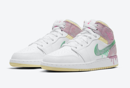 Giày Nike Air Jordan 1 Mid Features Paint Drip DD1666-100